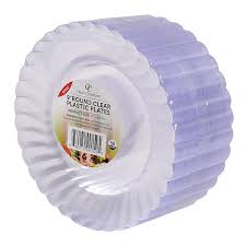 clear plastic plates 50 premium clear plastic plates set by oasis