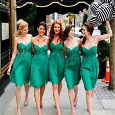 green bridesmaid dresses simple cheap chiffon sweet heart knee length green bridesmaid