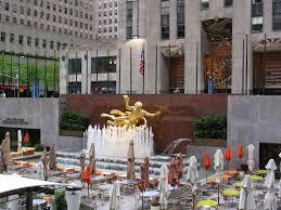 Rockefeller Center Summer Garden - 232 best rockefeller center new york images on pinterest