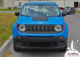 jeep renegade blue renegade hood jeep renegade hood decal trailhawk style vinyl