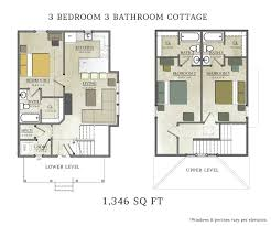 3 bedroom cabin floor plans 3 bedroom cottage capstone cottages of san marcos