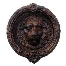 lion door knocker antique style cast iron lion s door knocker treasuregurus