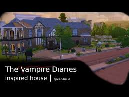 residential glenridge hall the mansion from tv series the the vire diaries inspired house the sims 4 speed build youtube