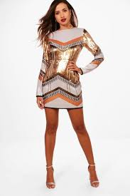 boo hoo clothing boutique sequin bodycon dress boohoo