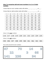 recognising odd and even numbers by n neil w teaching resources