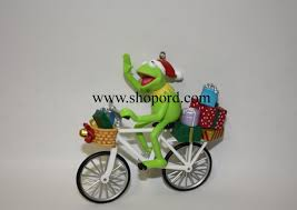 hallmark 2004 pedal power ornament muppets kermit the frog qxi5304