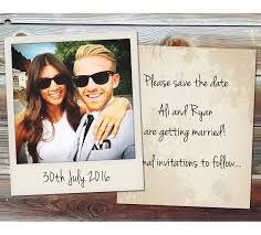instant photo wedding save the date cards by wedfest
