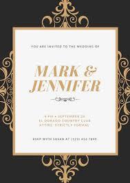 wedding invitation template wedding invitation templates canva invitation for wedding mes