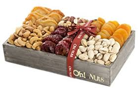 nuts and fruit gift healthy baskets assortment gifts