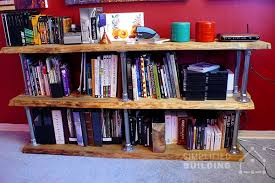 Industrial Bookcase Diy Diy Industrial Bookcase Plans To Build Your Own Simplified Building