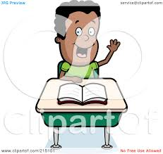 Picture Of Student Sitting At Desk by Smart Student Clipart Black And White Clipart Panda Free