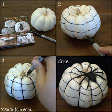White Pumpkin Decorations Halloween 52 Mantels Cobweb Pumpkin Tutorial Spooky U0026 Bright Book Review
