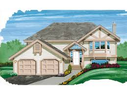 saille split level home plan 062d 0125 house plans and more