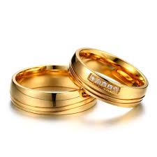 aliexpress buy vnox 2016 new wedding rings for women aliexpress buy vnox aaa cz stones gold color wedding rings