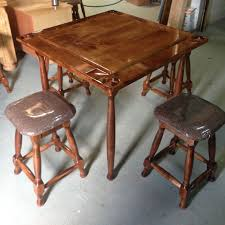 custom domino table and four stools furniture city ltd a touch