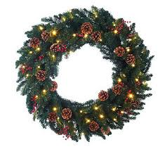 as is bethlehem lights battery operated 36 wreath w timer qvc
