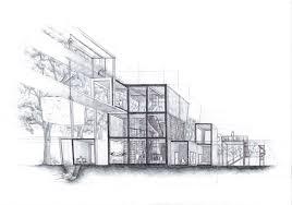 architecture designer modern dwelling concrete facade minimalist architecture design