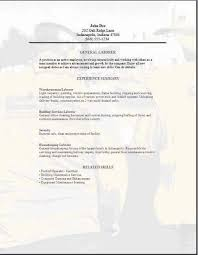 general labor resume templates 3 are free and 1 cover letter to
