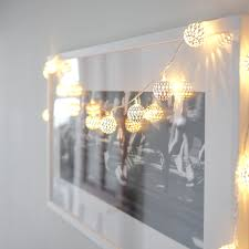 silver tangier indoor fairy lights with 16 warm white leds by