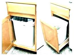 built in trash can cabinet kitchen trash cabinet fascinating kitchen ideas endearing pull out