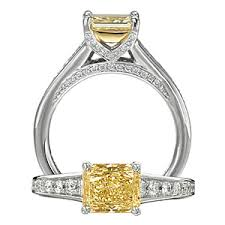 fancy yellow diamond engagement rings yellow diamond engagement rings