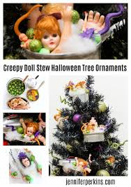 the creepiest tree ornaments made from doll parts