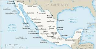 map of mexico with states the world factbook central intelligence agency