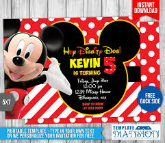 mickey mouse clubhouse birthday invitation templatemansion