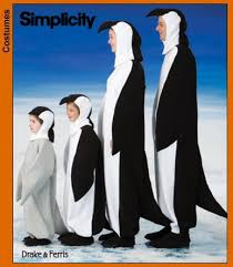 Sewing Patterns Halloween Costumes Simplicity 3639 Simplicity Patterns Penguin Costume