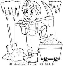 gold mining clipart black white