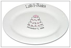 personalized wedding plate wedding cake guest book signature platter serendipity crafts