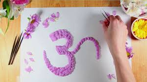 how to write the paper flower petal art how to write the om symbol with fresh flower flower petal art how to write the om symbol with fresh flower petals 28