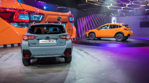 grey subaru crosstrek 2017 2018 subaru crosstrek debut from the 2017 geneva motor show