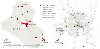 baghdad world map world maps of u s troop deployments in iraq interactive