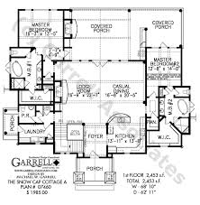 house plan with two master suites snow cap cottage a house plan house plans by garrell