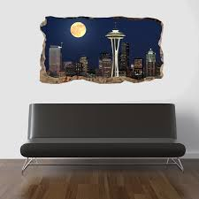 startonight 3d mural wall art photo decor window moon on the city startonight 3d mural wall art photo decor window moon on the city amazing dual view surprise large 47 24 by 86 61 inch wall mural wallpaper bedroom urban
