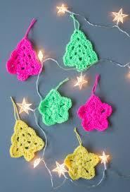 crochet christmas tree ornaments christmas lights decoration