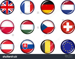 European Flags Images Flag Icons Europe 1 Vector Graphic Stock Vector 190625495