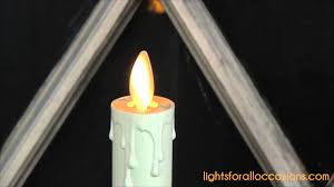 holiday window candle lights luminara window candle with realistic flame youtube