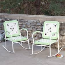 Retro Metal Patio Chairs Furniture Retro Metal Patio Chairs Colored Yellow Over Patio