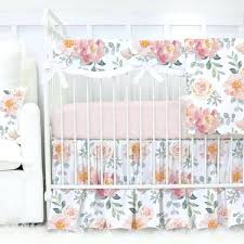 Vintage Style Crib Bedding Mermaid Crib Bedding Vintage Style Dusty And Pink Floral