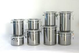 stainless steel canister sets kitchen 4pcs stainless steel kitchen airtight canister sets buy airtight