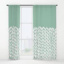 Half Window Curtain Knitting Window Curtains Society6