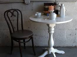 Round Bistro Table Round Bistro Tables With Turned Pedestal Base