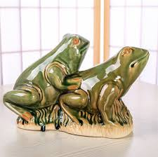 ceramic frog sculpture porcelain sexual