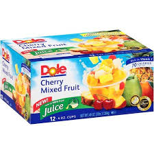 dole fruit bowls de west wind dole cherry mixed fruit fruit cups 4 oz 12 ct