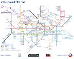 Map Poster Underground Film Map Poster London Transport Museum Shop