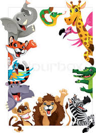 Jungle Birthday Card Happy Birthday Card With Jungle Animals Cartoon Vector