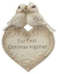 our first christmas together lovebirds personalized ornament