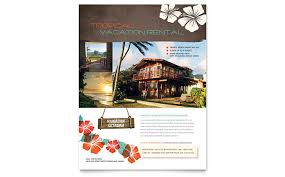 real estate flyer examples vacation rental flyer template design